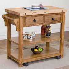 kitchen islands butcher block top loon peak fresno kitchen island with butcher block top reviews