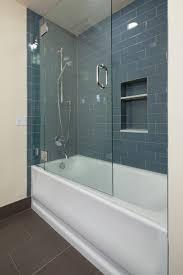 bathtubs chic frameless hinged glass bathtub doors 45 with