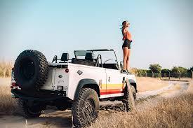 beach jeep surf land rover defender d90 u0027retro vibes u0027 hiconsumption
