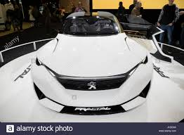new peugeot cars 2017 brussels jan 19 2017 new peugeot fractal car on display at the