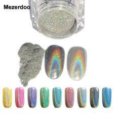 1g box shiny laser nail powder holographic nail glitter rainbow