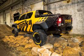 the toyota playtime in the toyota hilux tonka concept and 2017 toyota hilux