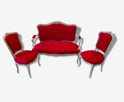 canape style ancien salon 3 piéces ancien style louis xv canapé et fauteuils bois cérusé