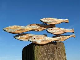 decorative wooden fish seaside gifts maritime and nautical