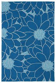floral indoor outdoor rug in blue rosenberryrooms com