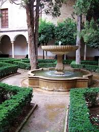 Spanish Home Plans With Courtyards by Granduer Fountain For Spanish Courtyard Home Plans With Green