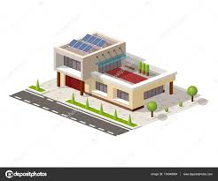 isometric high tech house vector illustration contemporary