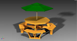 Picnic Table Plans Free Octagon by Octagon Picnic Table With Plans Step Iges Autodesk Inventor