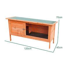 3 Storey Rabbit Hutch Large 4ft Wooden Single Rabbit Hutch Pet Indoor Outdoor House