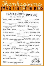 free thanksgiving mad libs printable www 247moms 247moms