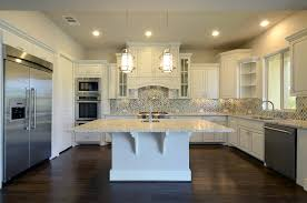 model home kitchen cabinets in bone white burrows cabinets