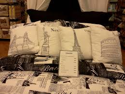 paris london new york rome bedding from bed bath and beyond