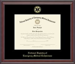 certificate frame national registry of emergency technicians certificate