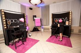 makeup artist station makeup artists from sponsor lancôme provided touch ups glamorama