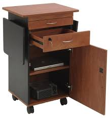 av lectern cherry with dual flip up shelves u0026 locking cabinet