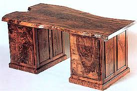 live edge desk with drawers figured claro walnut live edge executive office desk