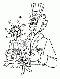 cake for 4th of july coloring page for kids coloring pages