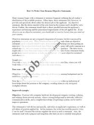 resume objective statement for students how to write a career