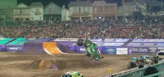 monster truck race track famous monster truck grave digger crashes after failed backflip