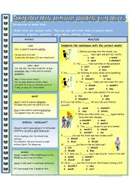 introduction to modal verbs worksheet free esl printable