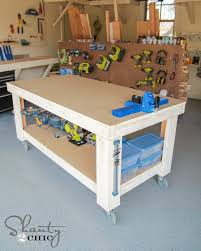 Free Simple Wood Workbench Plans by New Year New Workbench Baby Shanty 2 Chic