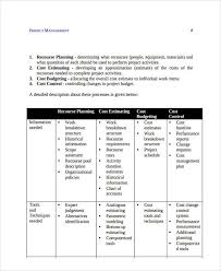 5 project activity schedule templates 5 free word pdf format