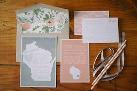 wedding invitation suites wisconsin themed wedding invitation suite vintage and pastel color