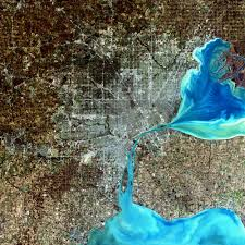 Topographic Map Of Michigan by See The Rise Of The Motor City Detroit U0027s History In Maps Wired