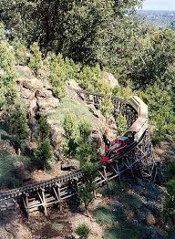 a spectacular setting for a garden railway in the california hills