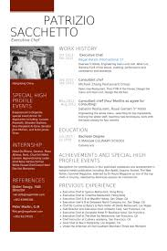 Culinary Resume Examples by Extraordinary Design Ideas Chef Resume Sample 2 Sample Examples