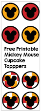 mickey mouse cupcake toppers paper trail design