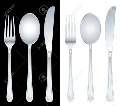 vector illustration of the fork spoon and knife royalty free