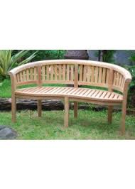 Curved Teak Garden Bench Kensington Teak Collection 1 Curved 3 Seater Bench 2 Armchairs