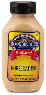 what is prepared horseradish shelf stable prepared horseradish bookbinder s foods