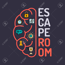 real life room escape and quest game poster royalty free cliparts