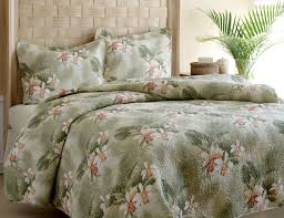 Palm Tree Bedspread Sets Bedroom Luxury King Size Tropical Orchid Duvet Cover Sets As Well