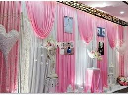 Pink And Teal Curtains Decorating Hotsale 10x20 White And Pink Baby Shower Backdrop Swag