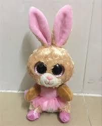 1pc15cm sale ty beanie boos big eyes pink rabbit plush toy