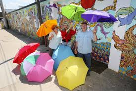 Hutch News Classifieds Floating Umbrellas Inspired By Similar Exhibits Abroad News