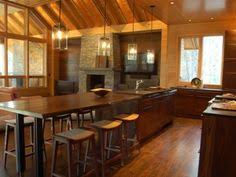 Rustic Kitchen Islands With Seating I Would Love A Huge Kitchen Island Like This But With More Seating