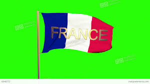 French Flag Banner France Flag With Title France Waving In The Wind Looping Sun