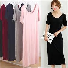 qoo10 super comfy work basic office short sleeve maxi dress plus