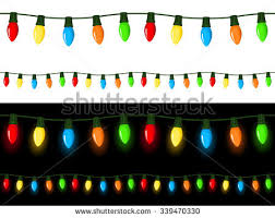 vector illustration strings christmas lights light stock vector