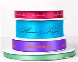 personalized satin ribbon personalized ribbon etsy