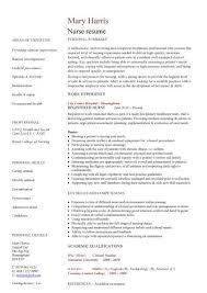 free nurse resume templates nursing cv template nurse resume