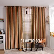 Orange Thermal Curtains Cheap Orange And Green Striped Country Curtains