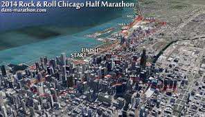 Chicago Google Map by Coach Dan 2014 Rock U0027n Roll Chicago Half Marathon Dan U0027s Marathon