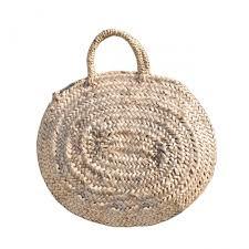 Round Large Wicker Basket Natural Handles Natural Baskets
