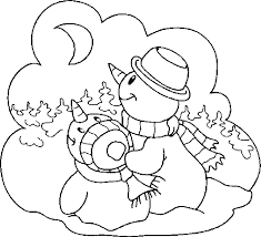 100 coloring snowman cattpix