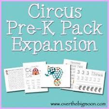 circus printable pack free printables preschool kindergarten
